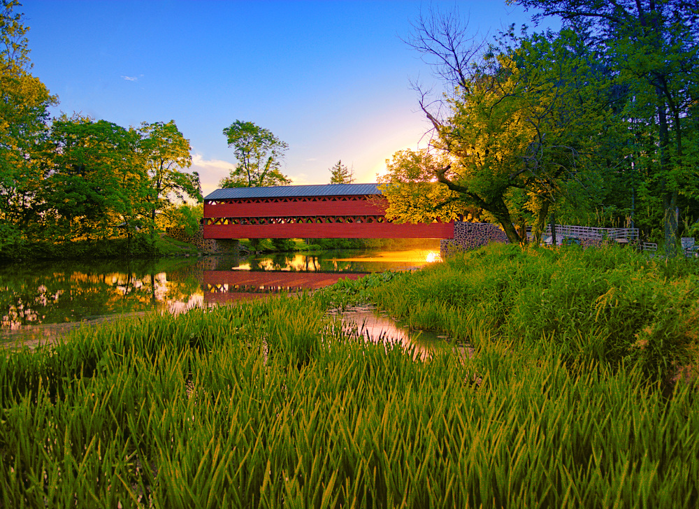 Sometimes you go out looking for a covered bridge to shoot at sunset...