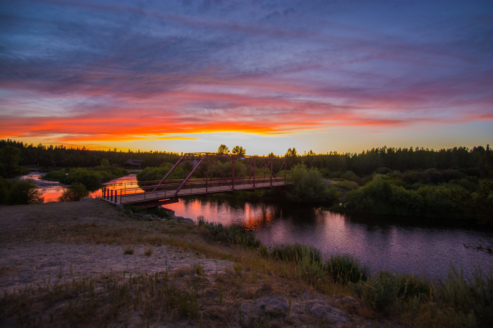 7/4 Photo: A great sunset to wrap up a great weekend. Who said the west doesn't get good sunsets?! That is the aforementioned Sheep Bridge from afar.