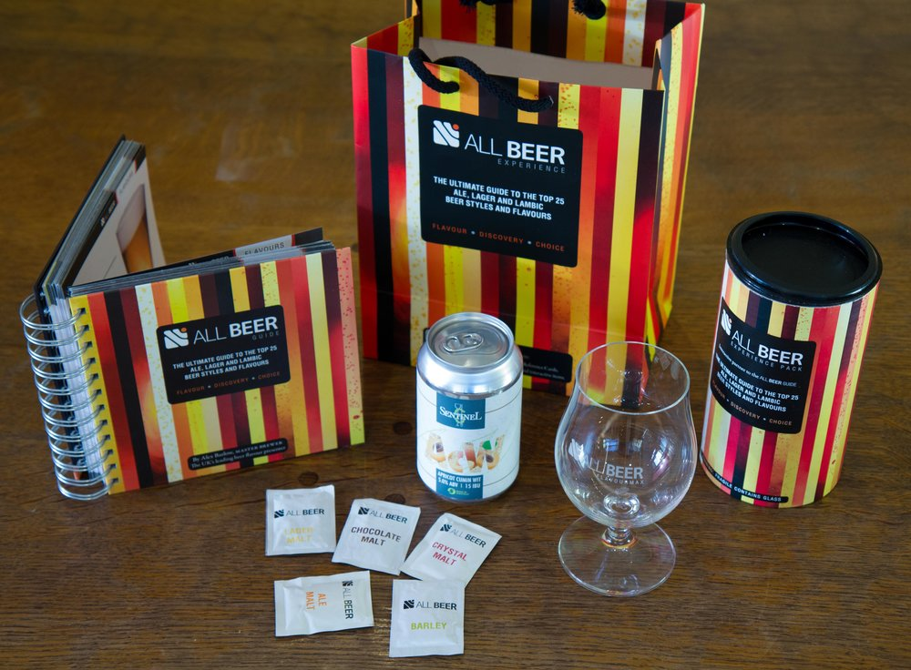 The Sentinel Gift Pack - Specially selected craft beer with an All Beer glass in presentation tin, complete with compelling book on the art of craft beer all presented in an attractive bag.Perfect Gift for any Beer Lover only £10!Call Sentinel now on 07828 131 423