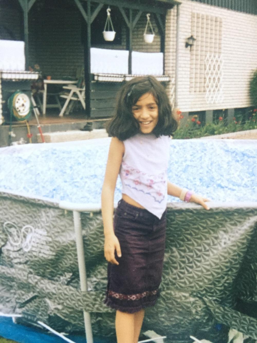 Här är jag ett år innan jag blev sjuk, år 2003. Jag var 8 år.