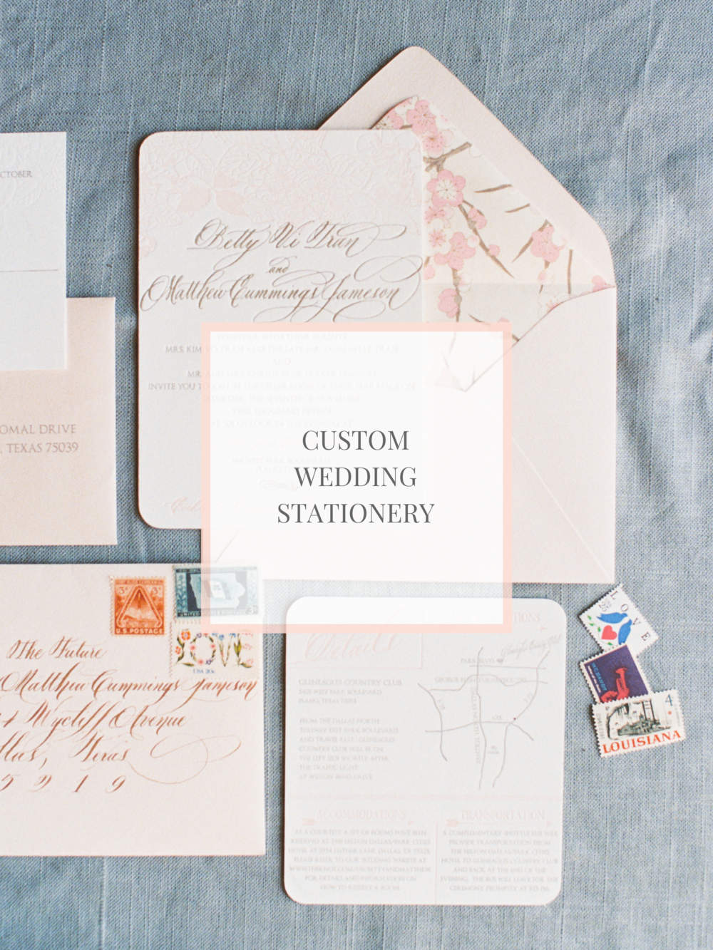 custom wedding invitations stationery