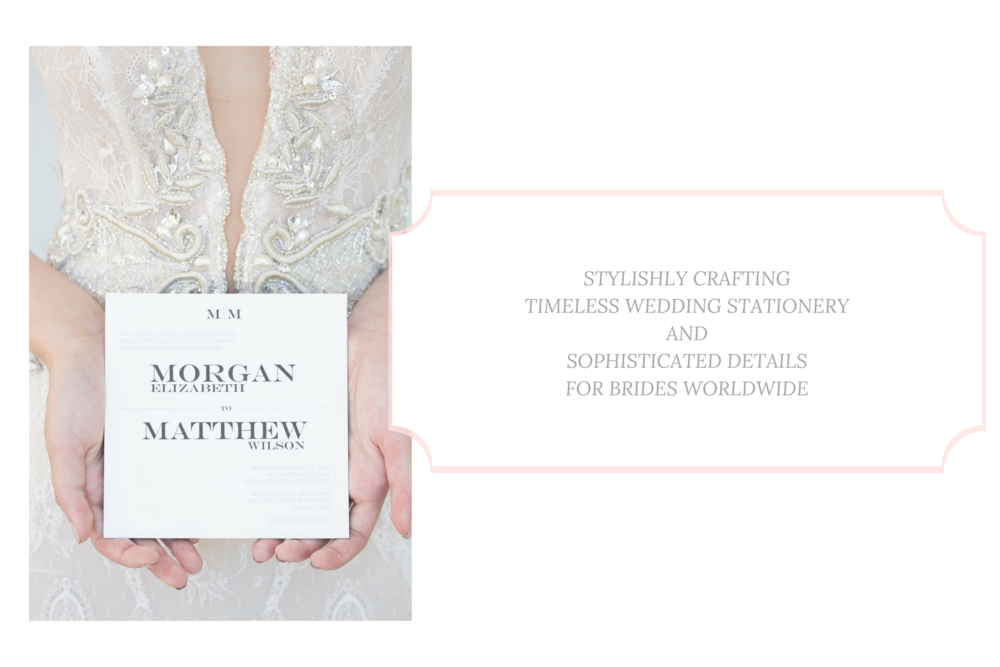 timeless invitations and stationery for the classic bride