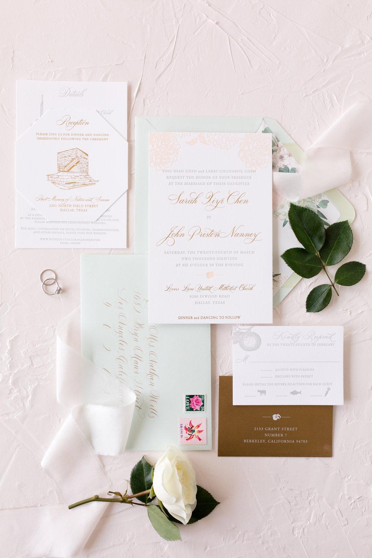custom wedding invitation suite stationery stationary