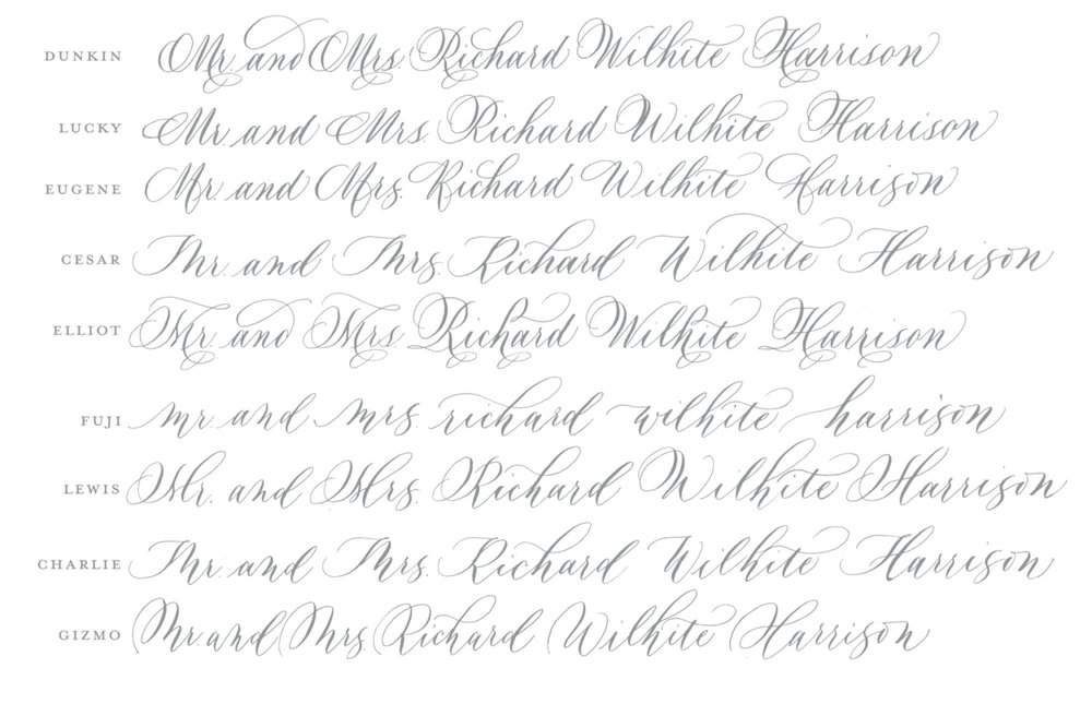 Wedding Envelope Handwritten Calligraphy Calligrapher