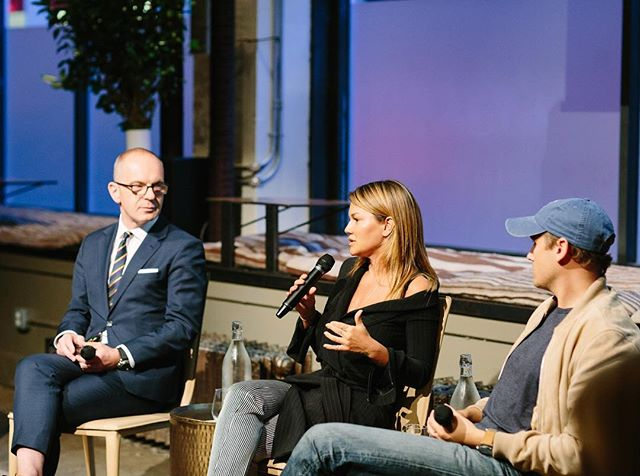 """""""It's not just about the clothes, it's about the spirit behind them."""" - @jennelombardo speaking to the crowd about @made designers at the FCD NeueHouse Salon Series #nyfw #MADEfw #fashion #culture #design  Photo by @yvonnetnt"""