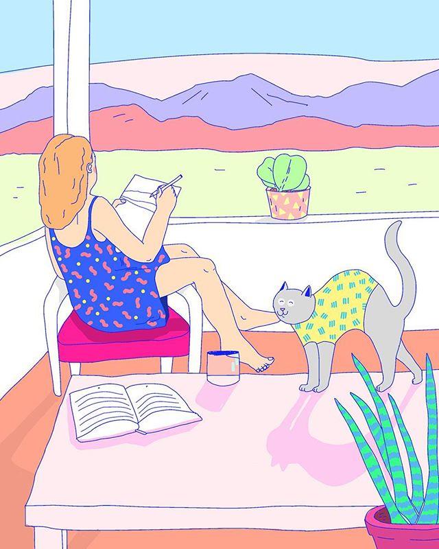 Les illustrations de @bellecmorgane nous plongent dans un univers remplis de douceurs et de couleurs. Parfait pour notre dose d'inspiration dominicale. On lui a posé des petites questions, et c'est sur notre site (lien dans la bio) ! 💌  #print #artbox #illustration #momongamoment #postcard #sendlove