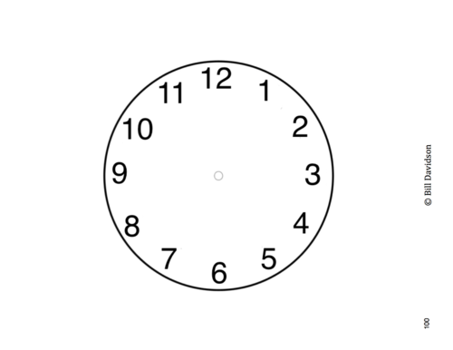 blank clock face insert the davidson group