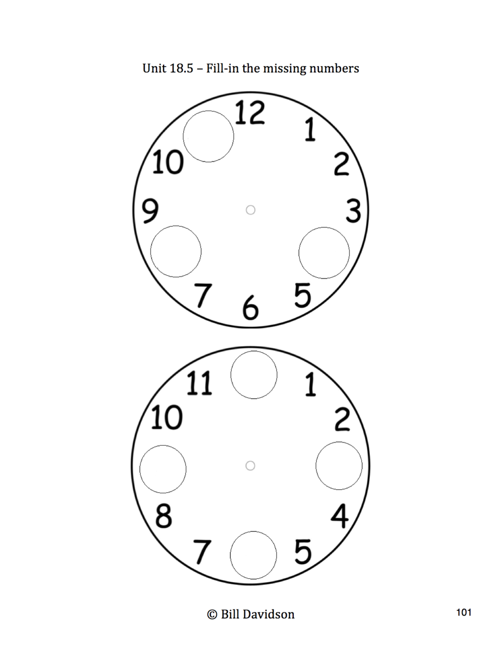 Curriculum Resources The Davidson Group – Clock Fractions Worksheet