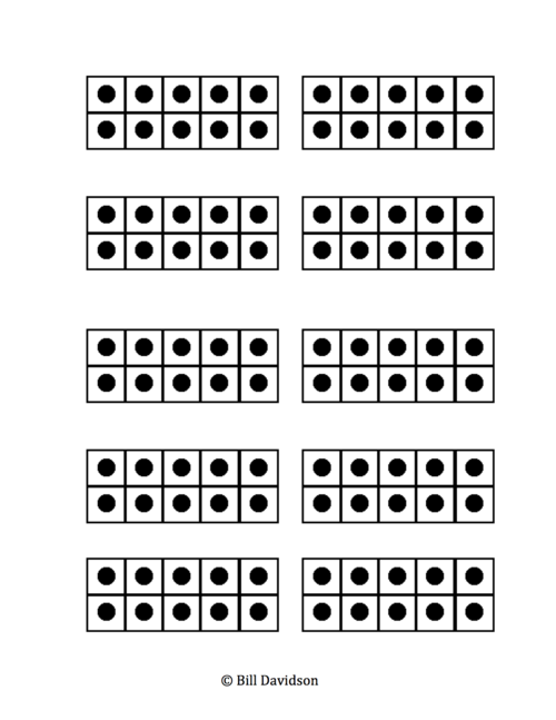small ten frame cards with dots printables template printable ten – Ten Frame Template