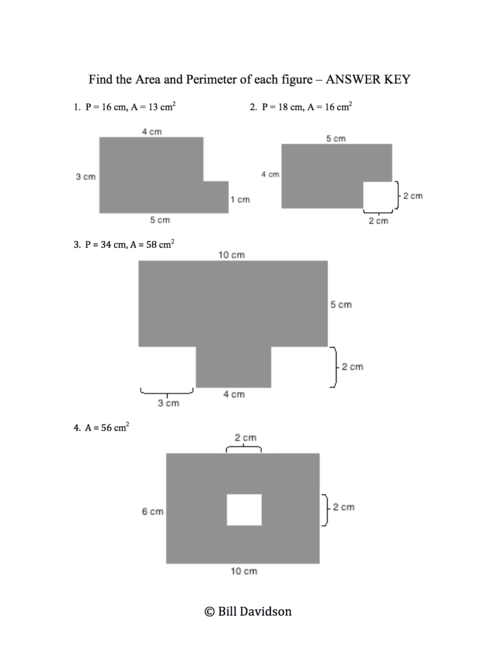 Remedial Area & Perimeter of Composite Figures Worksheet — The ...