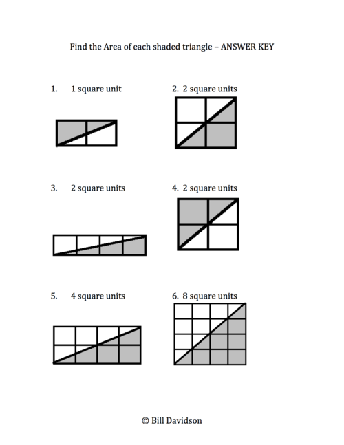 Remedial Area of a Triangle Worksheet The Davidson Group – Area of a Triangle Worksheet