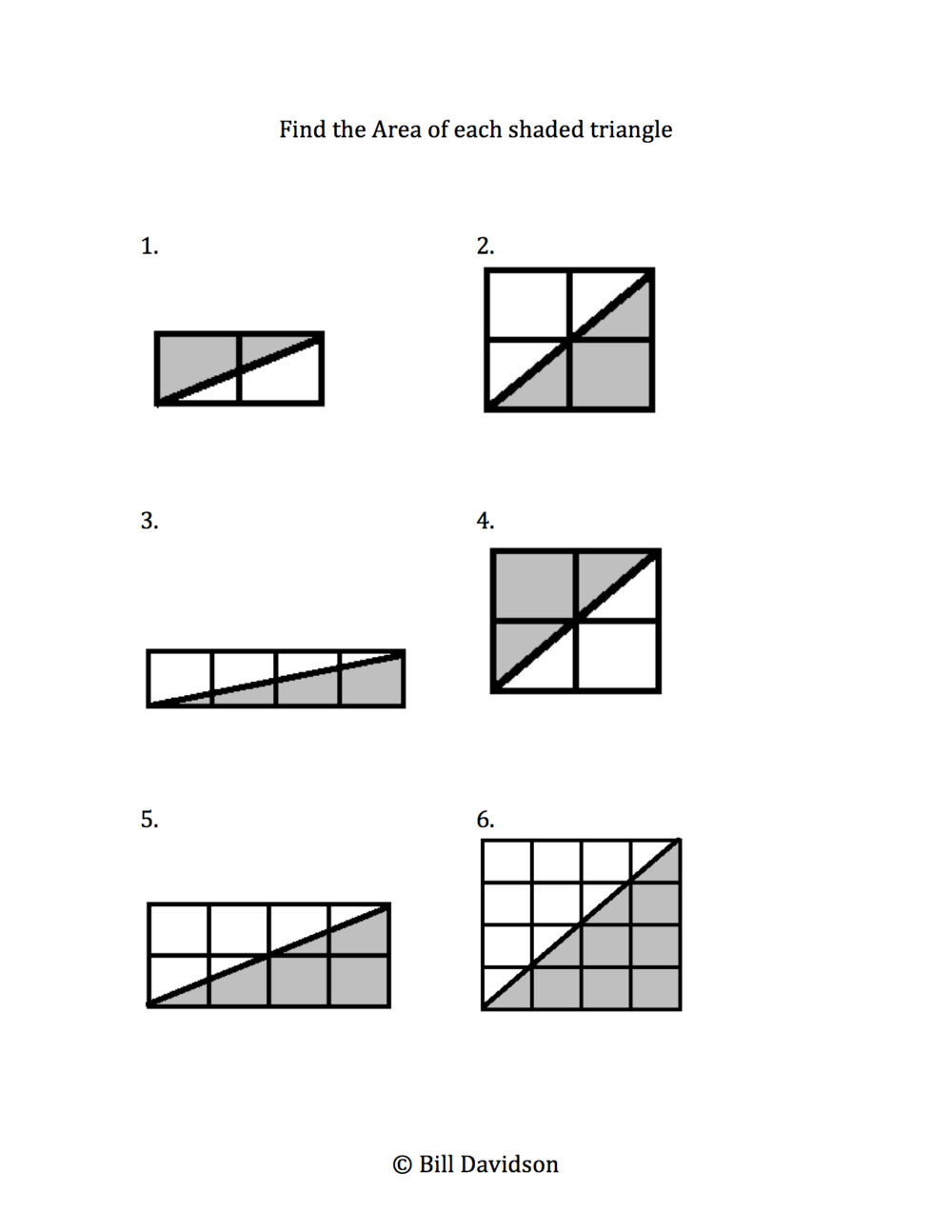 Remedial Area Of A Triangle Worksheet The Davidson Group