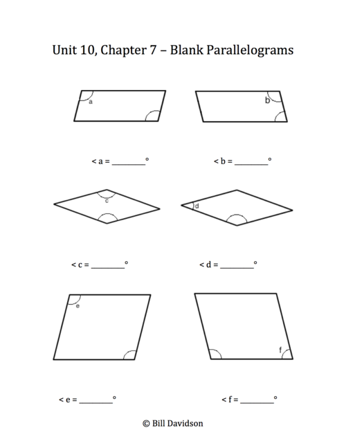 Find the missing angle of a quadrilateral worksheet pdf