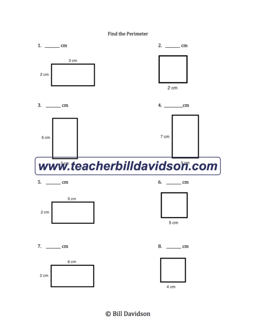 Area & Perimeter of Rectangles Worksheet — The Davidson Group
