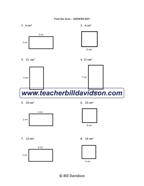 Area Perimeter Of Rectangles Worksheet The Davidson Group