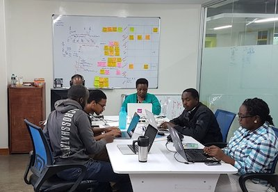 Some of the Frontline team in our Nairobi office