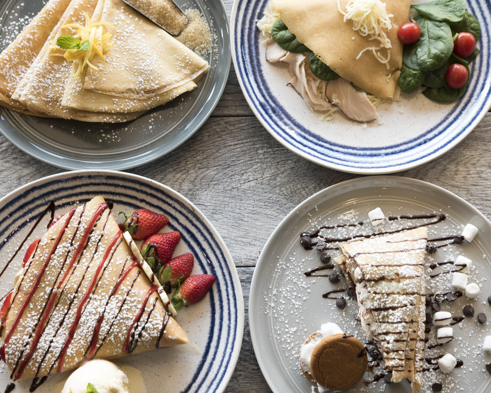 Back by popular demand... savory and sweet crepes that were a hit last year. -