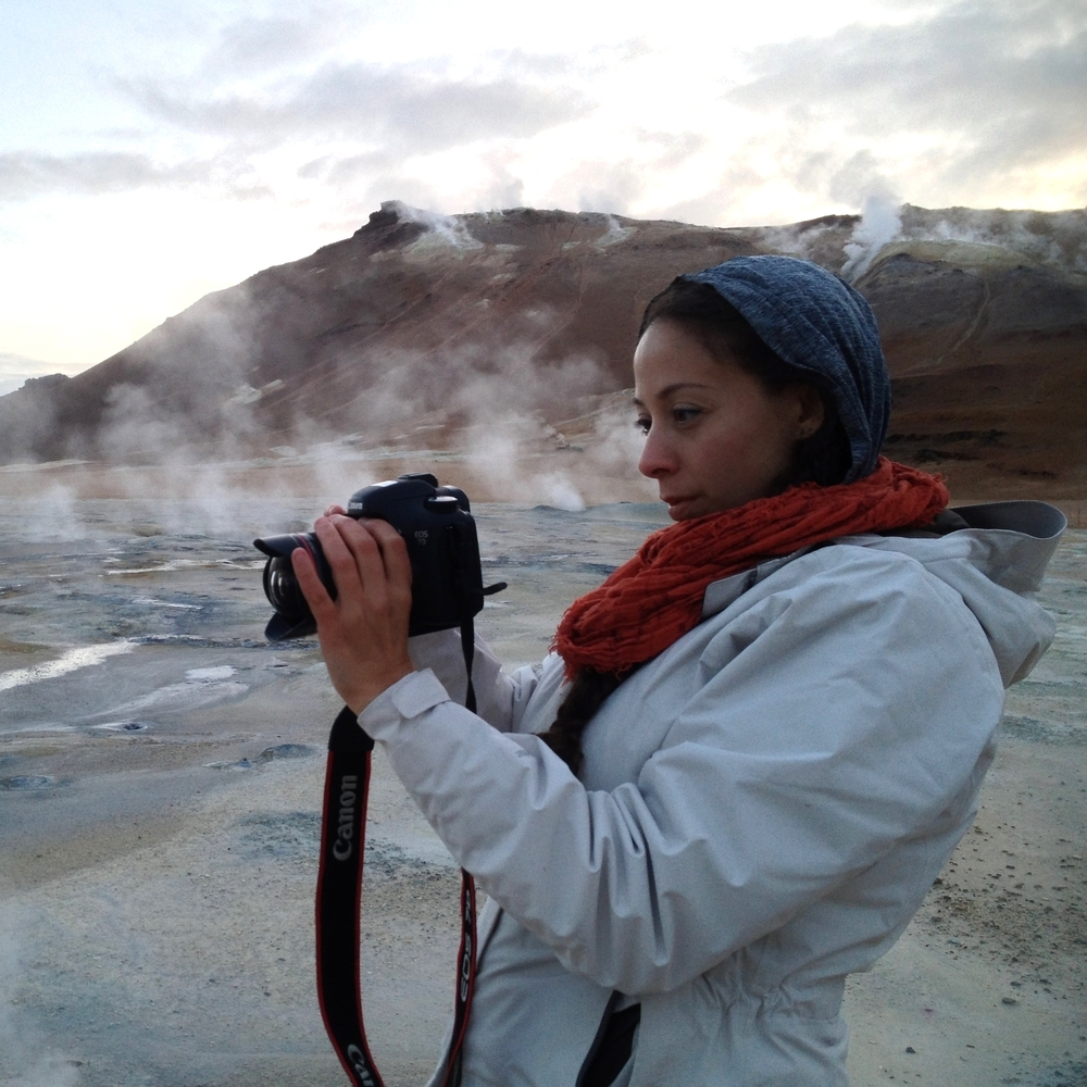 NASA Cinematographer Nasreen Alkhateeb capturing sulphuric landscape in Iceland