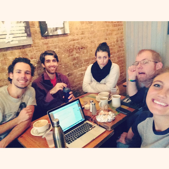 Coffee and talkin' production this lovely Halloween morning! #trystmovie #productionmeeting