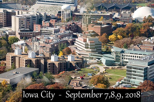 Iowa City Sept 7, 8, 9, 2018