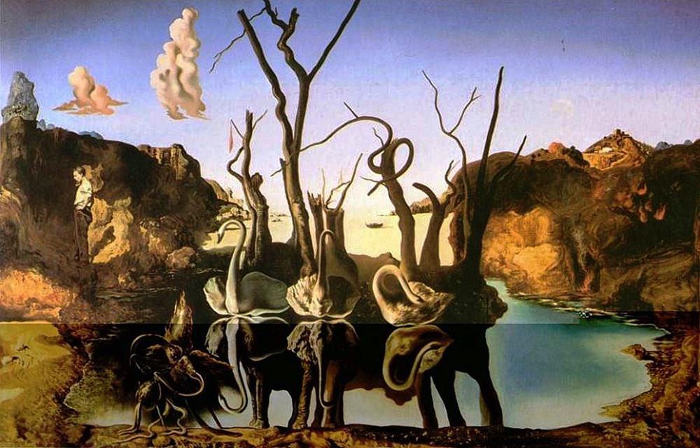 Swans Reflecting Elephants, Dali, 1937