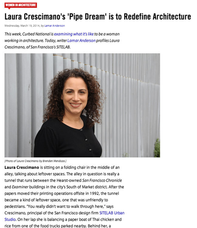Laura Cresimano's pipe dream is to redefine architecture - March 19, 2014