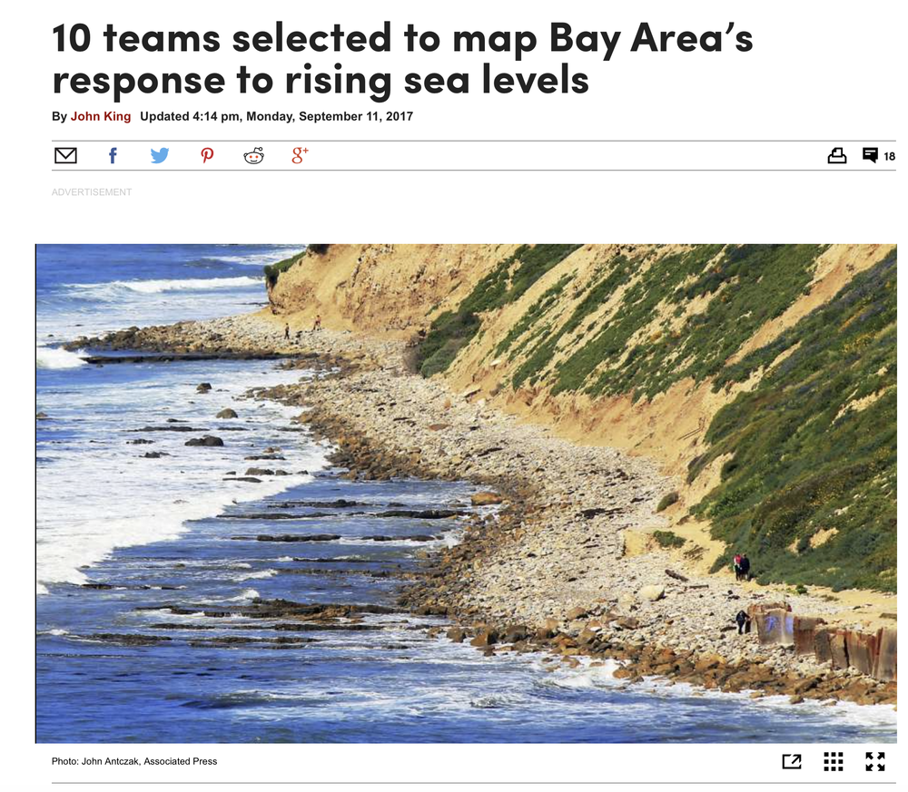 10 teams selected to map Bay Area's response to rising sea levels - September 11, 2017SITELAB is among 10 talented design teams selected to participate in the Resilient by Design challenge