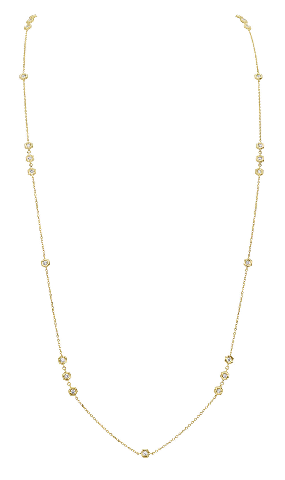 Gold & Diamond Mini B Necklace