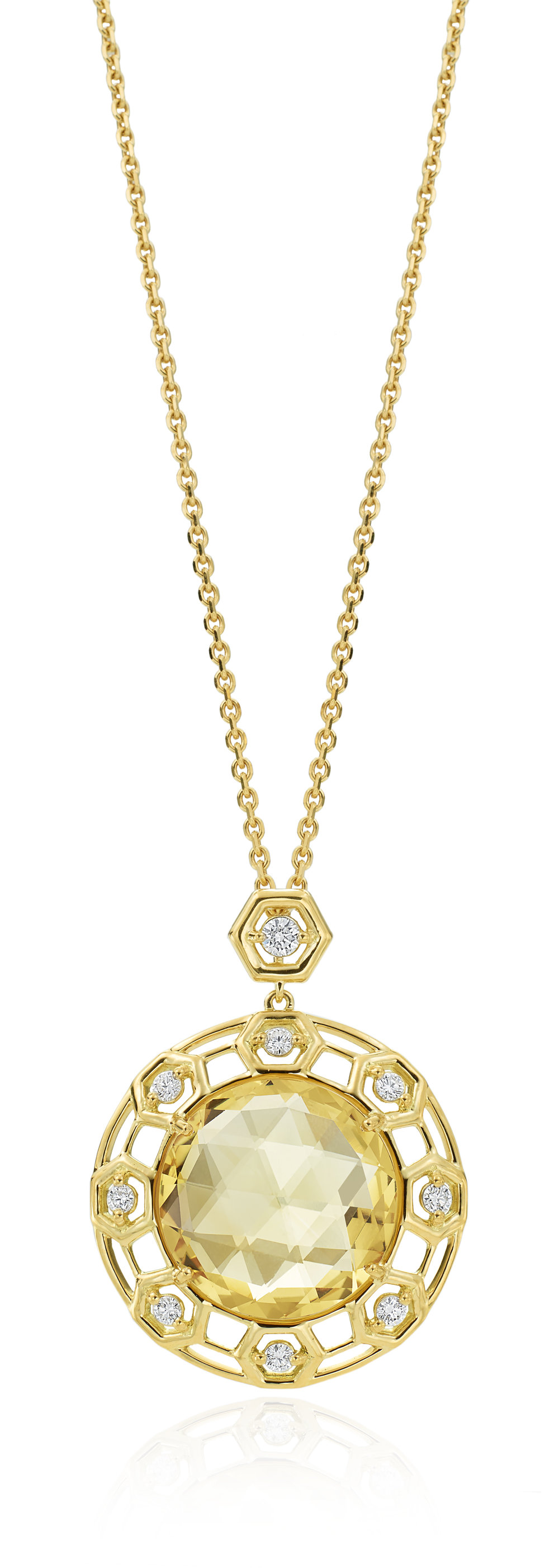 "Gold & Diamond ""B"" Pendant"