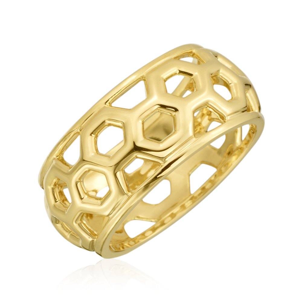 Gold Small Dome B Ring