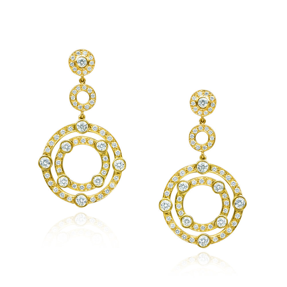 Gold & Diamond Carousel Earring