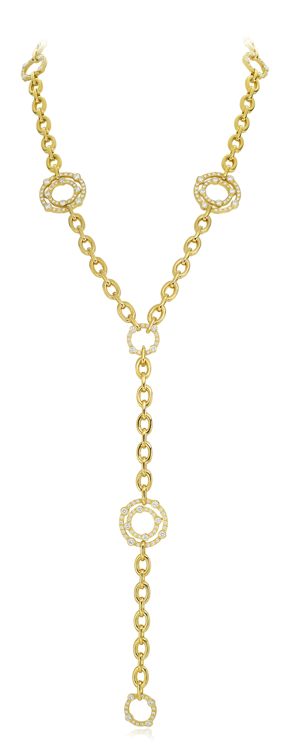 Gold & Diamond Carousel Necklace