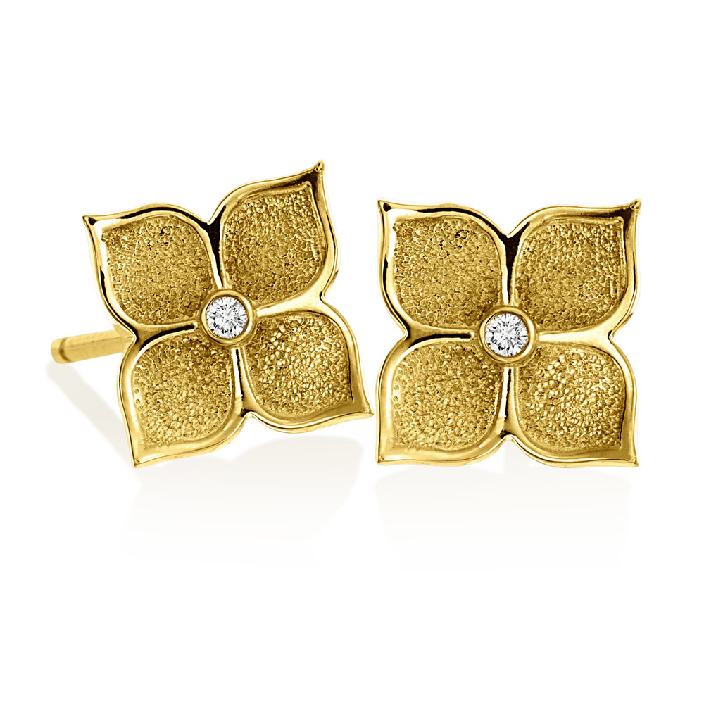 Gold Small Floating Motif Stud