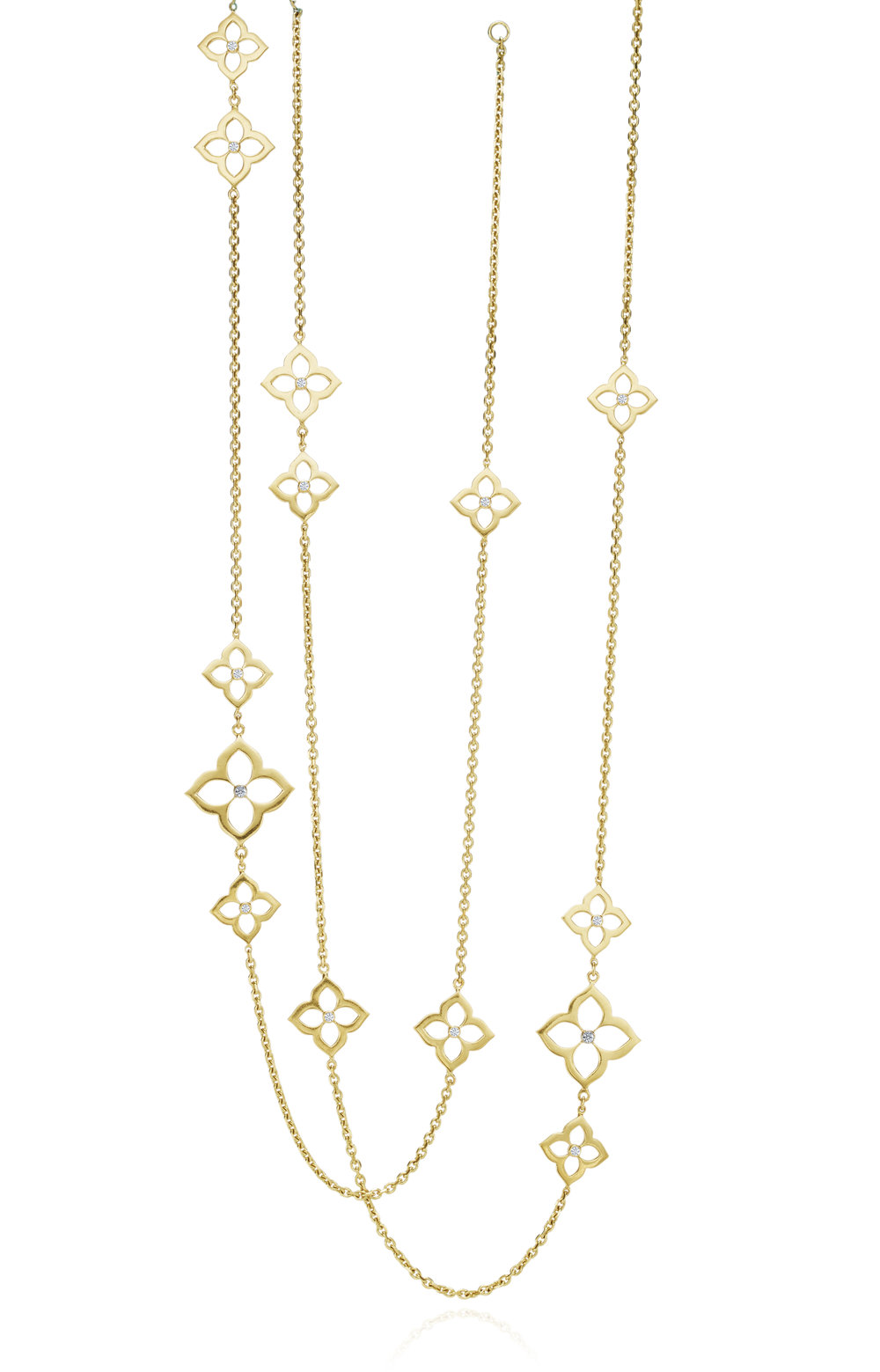 Gold & Xsmall Motif Necklace