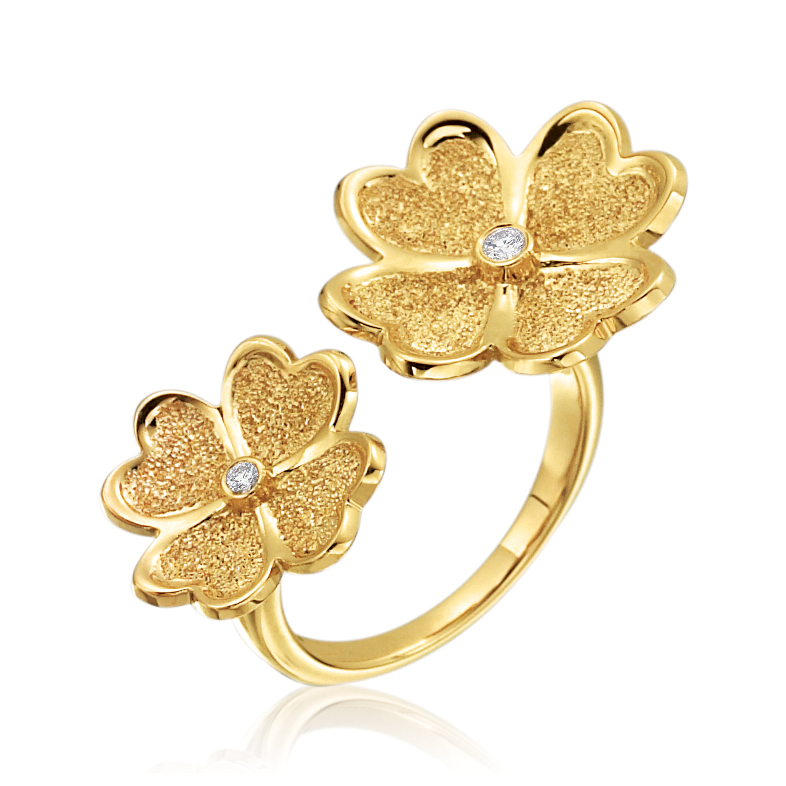 Gold & Diamond G boutique Floating Ring