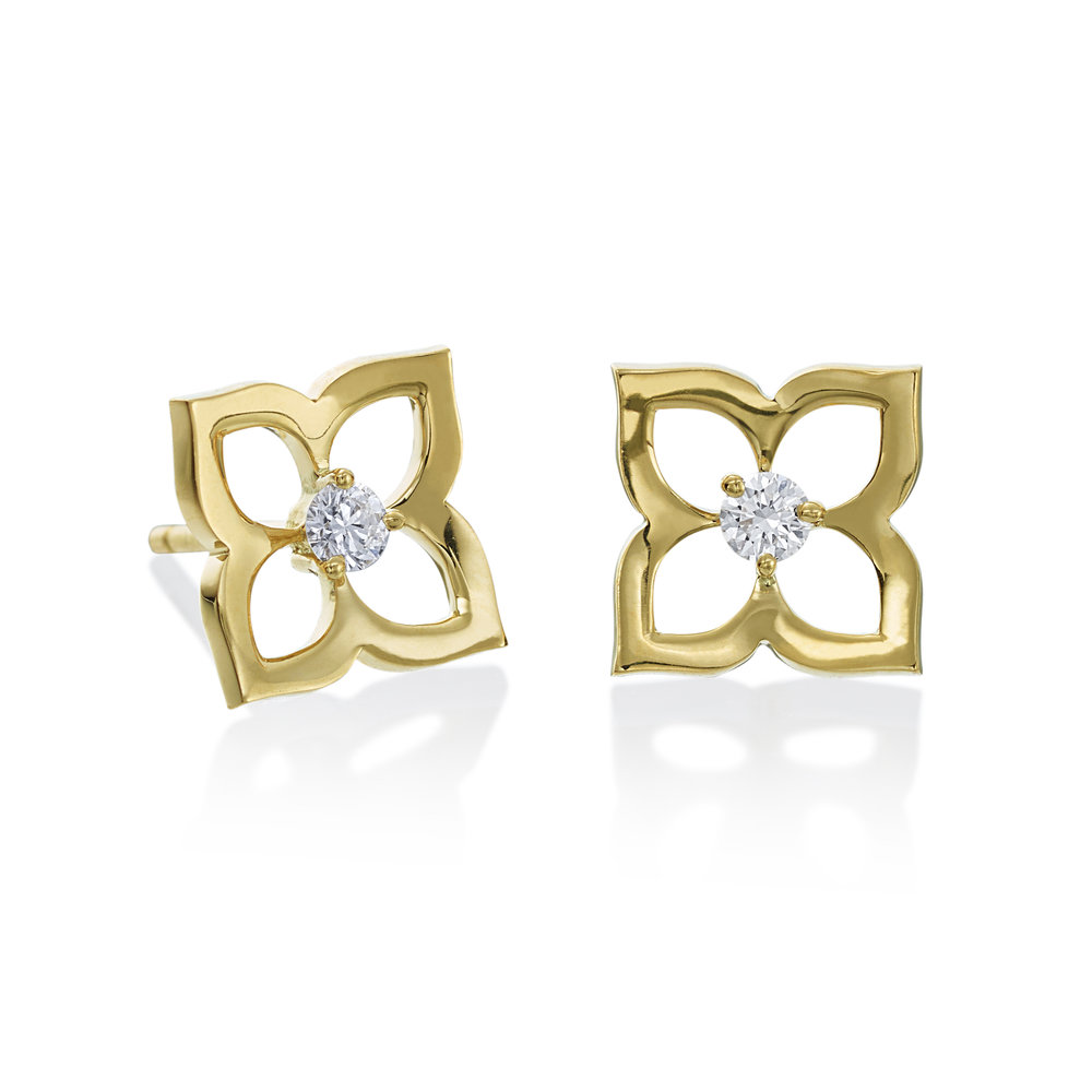 Gold XSmall Motif Stud  Earrings