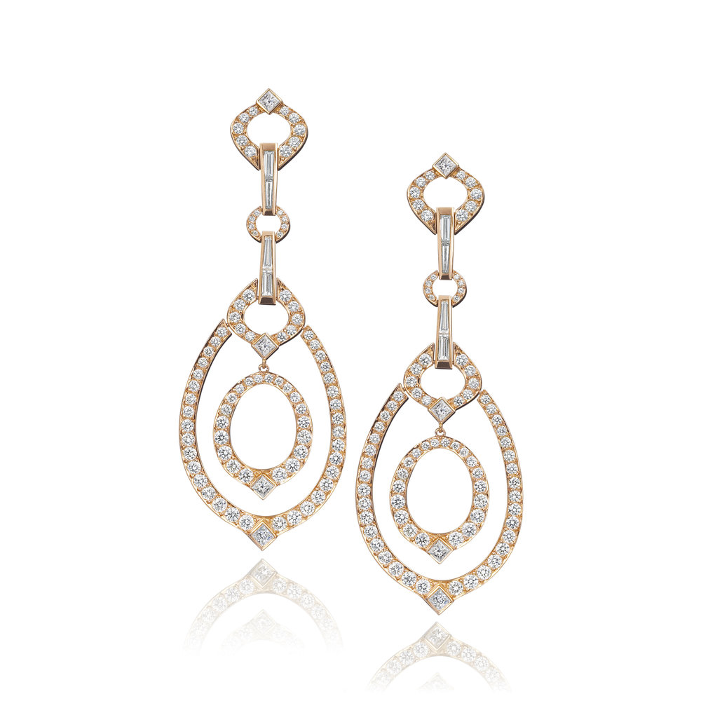 Gold & Diamond Gallop Earrings