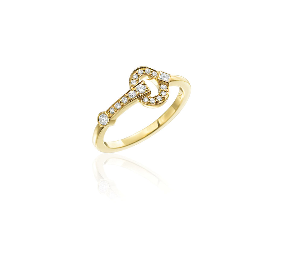 Gold & Diamond Gallop Stackable Ring