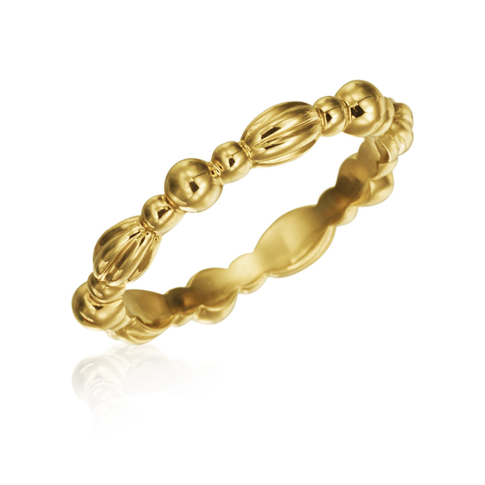 Gold Stackable Nutmeg Band