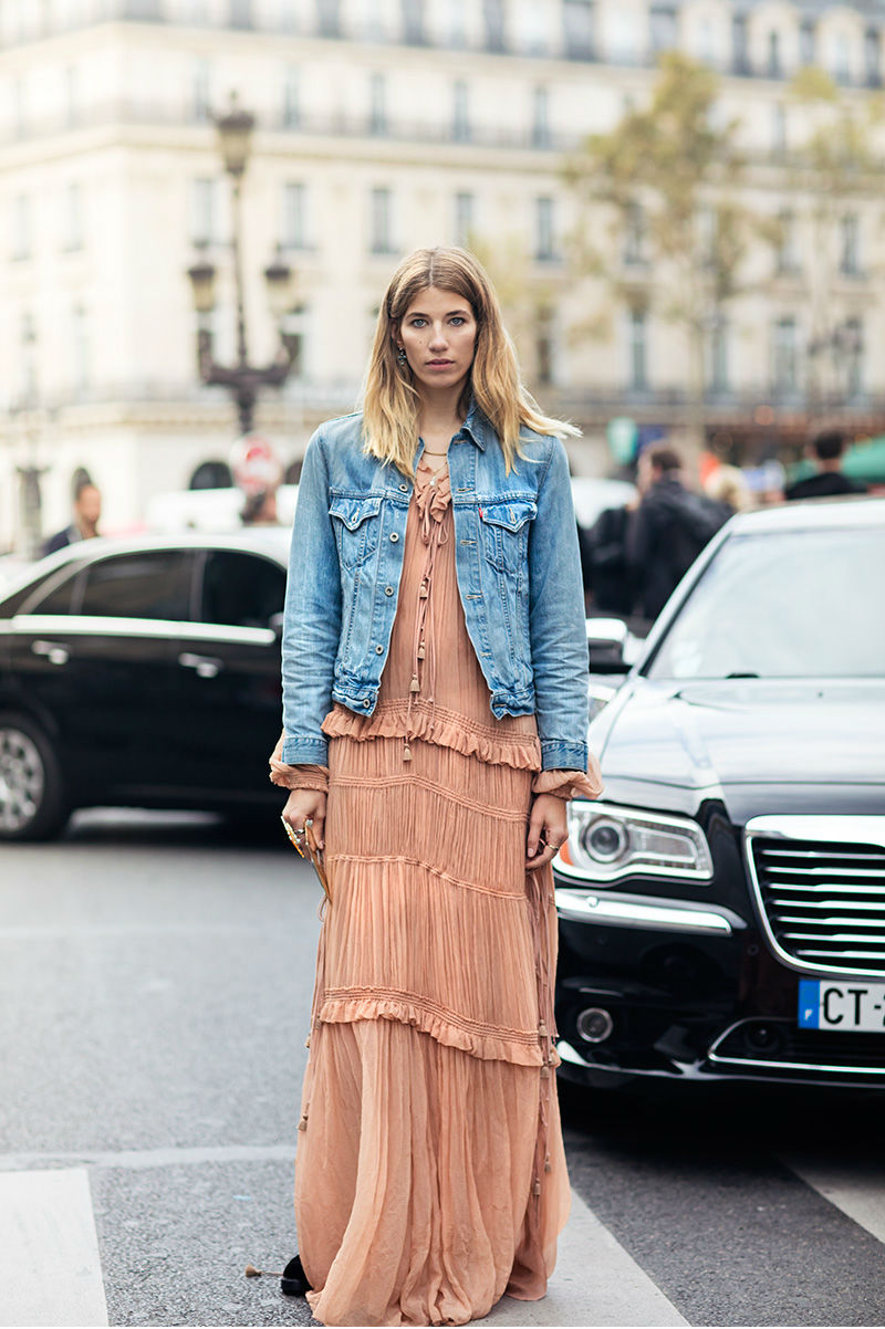 Ruffled  Maxi Dress  | Photo: Stockholm Streetstyle