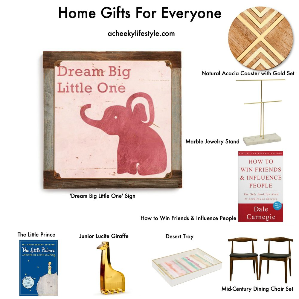 Home Gifts For Everyone @ acheekylifestyle.com by Val Banderman