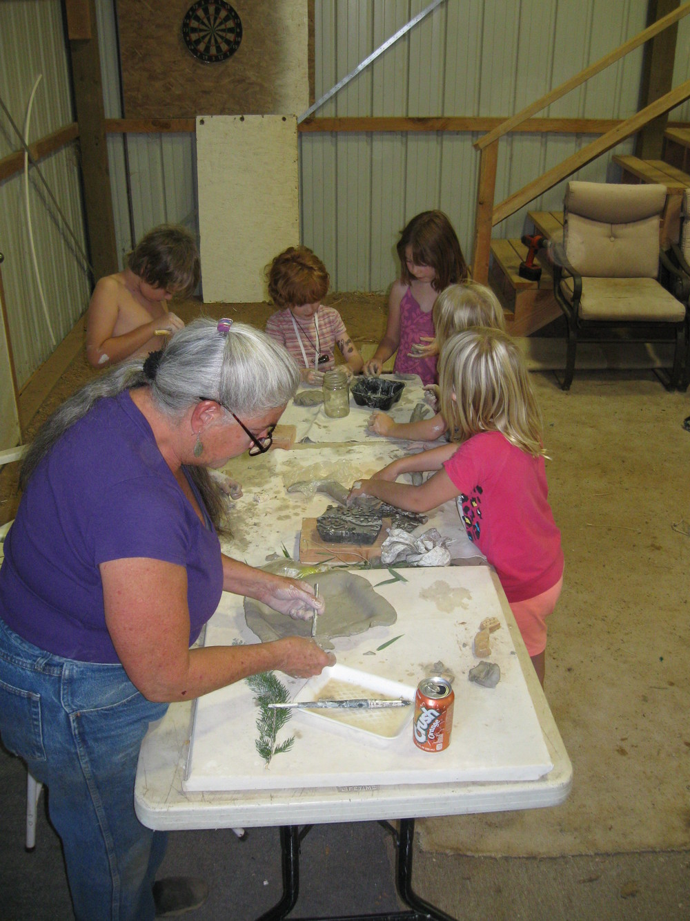 Pottery workshop in the barn at Gateway