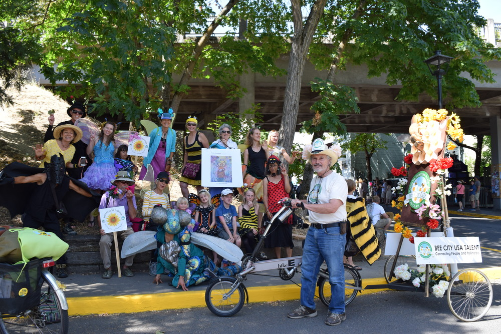 The Pollinator Project group after the parade
