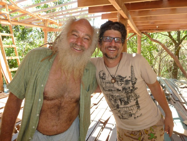 SunRay Kelley with Steven Brooks, co-founder of La Ecovilla and a permaculture visionary