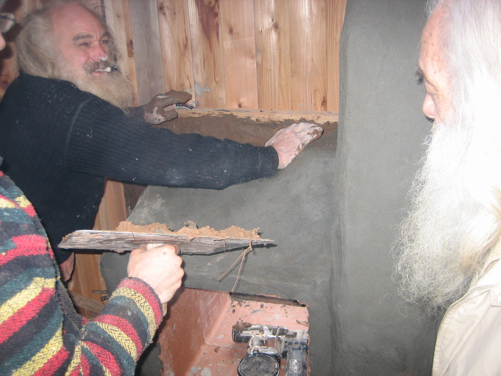 Building the sauna at Gateway Gardens