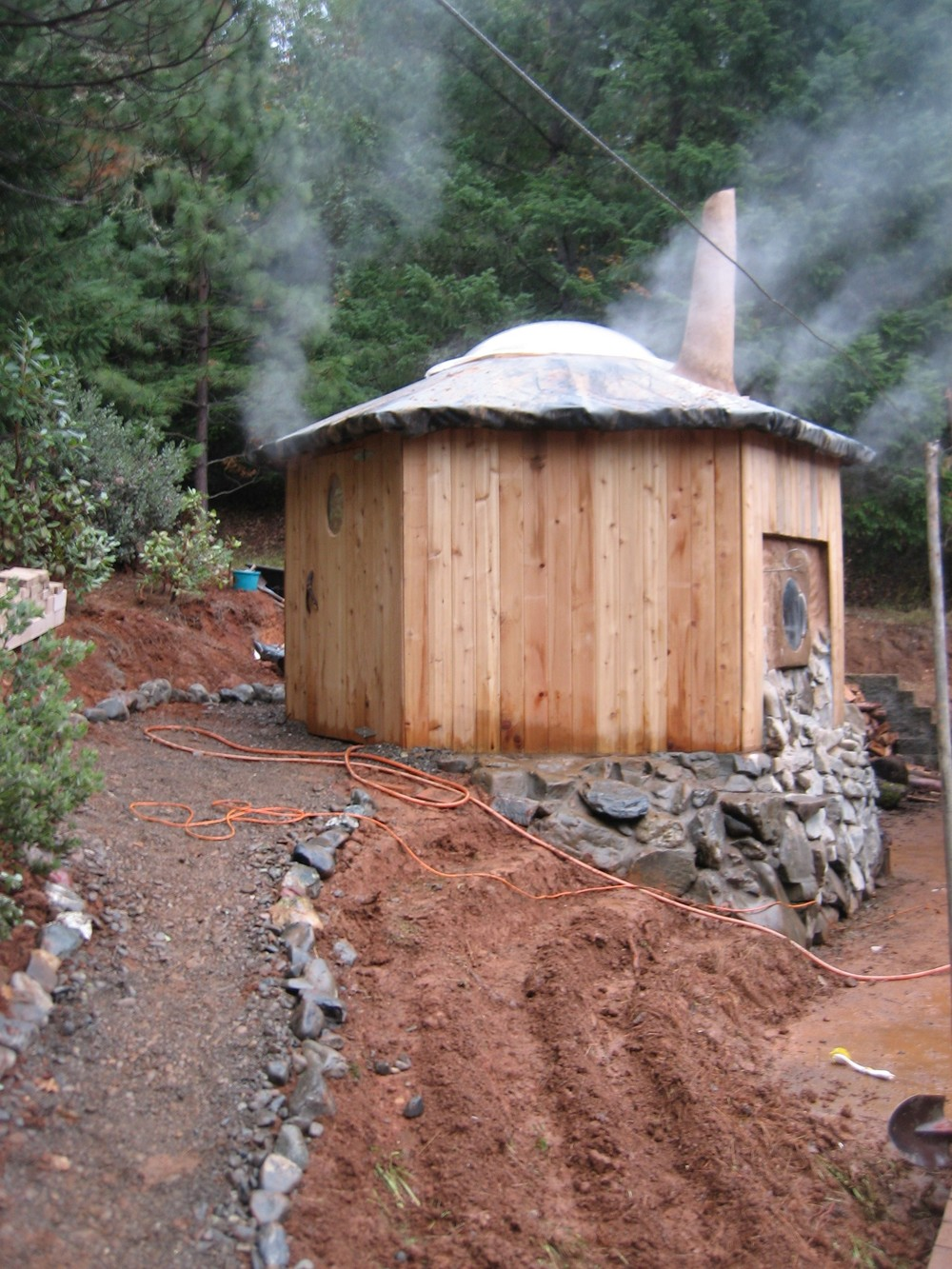 The Gateway Sauna during construction