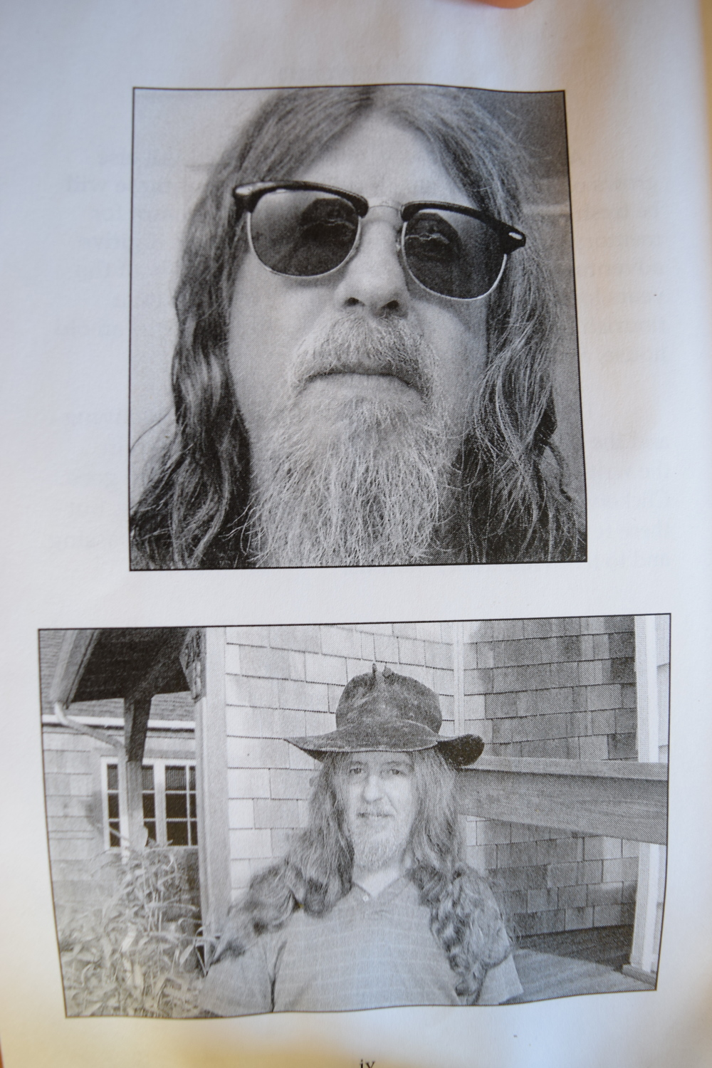 Photos of the author, from the book