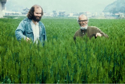 Larry Korn with Masanobu Fukuoka