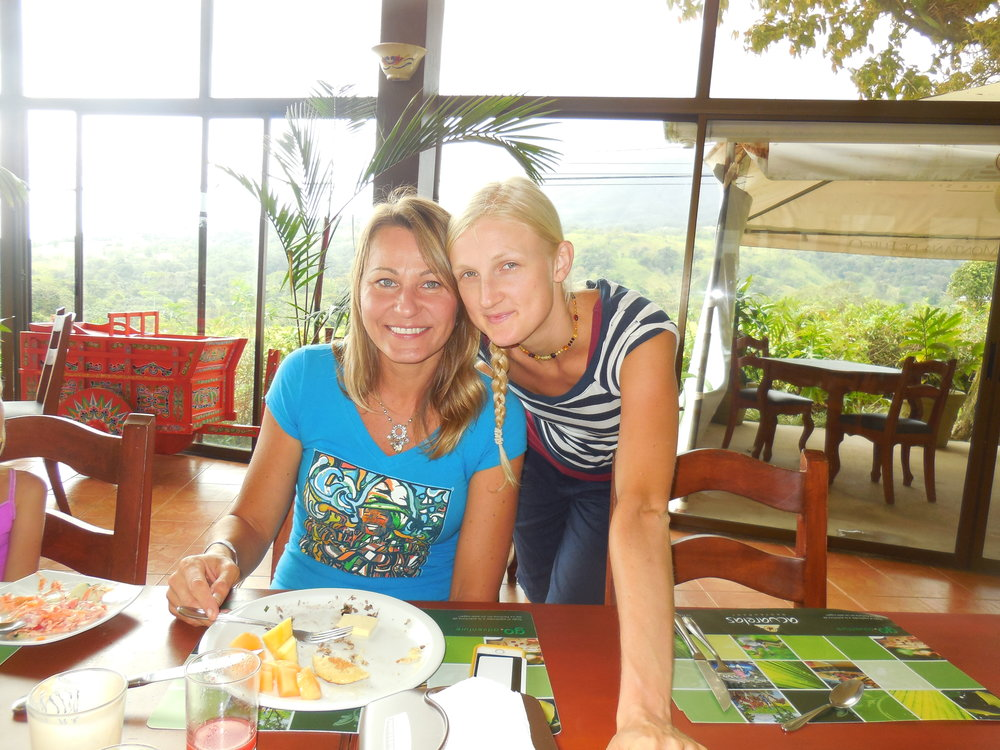 Jurate and Laura, at the Arenal Resort