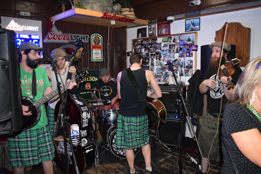 It's worth noting that all the guys in the band wore kilts that night, in honor of old St. Paddy, of course.